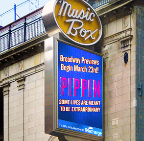 Pippin the musical on Broadway - photo by Carol de Giere