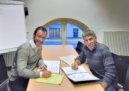Christian Struppeck and Stephen Schwartz working in Vienna