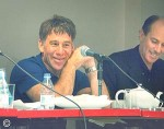 Stephen Schwartz and Craig Carnelia at an ASCAP session