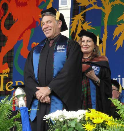 Stephen Schwartz 2015 in graduation gown receiving doctorate