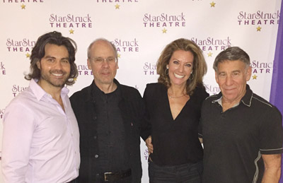 the leaders of the StarStruck Academy & Theatre are pictured with the writers of Children of Eden