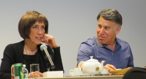 Lyricist Susan Birkenhead and Composer-lyricist Stephen Schwartz 2016 photo by de GIere