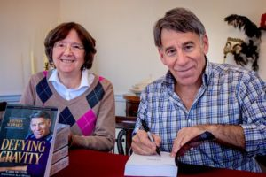 Biographer Carol de Giere and Stephen Schwartz, Nov 2018